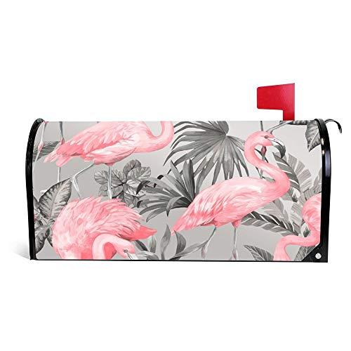 (Yilooom I Love Wallpaper Flamingo Wallpaper Pink Soft Grey P6252 18352 Image Mailbox Cover Magnetic Mail Box Wrap Yard Garden Decor 17.25 X 20.75)