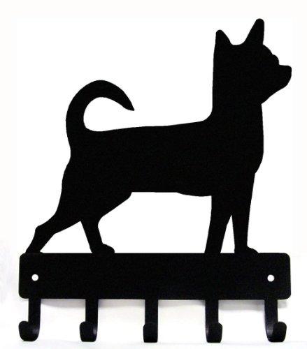 The Metal Peddler Chihuahua Key Rack Dog Leash Hanger - Large 9 inch Wide ()