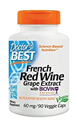 Doctor\'s Best French Red Wine Grape Extract, 90 count