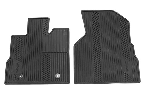 GM Accessories 22832328 Front All-Weather Floor Mats in Jet Black with GMC Logo