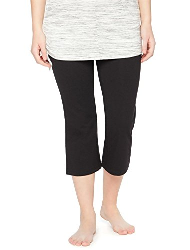(Motherhood Fold Over Belly Maternity Active Crop Pants)