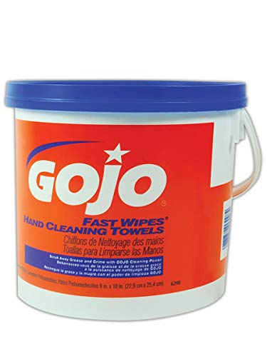 (GOJO 6299-02 Fast Wipes Hand Cleaning Towel, Capacity, Volume, Standard, Orange (Pack of 450))