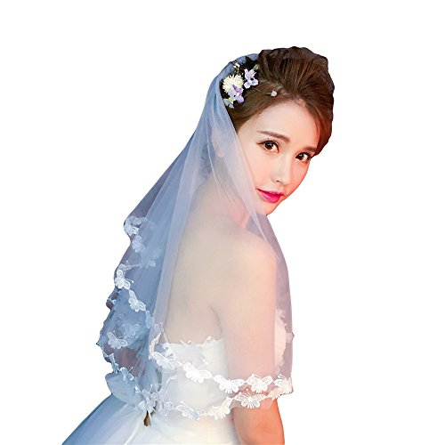 Bridal Veil Ivory 1 Tier Crescent Length 59