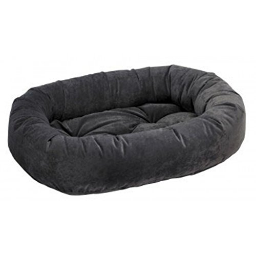 Bowsers Donut Dog Bed, Microvelvet Charcoal, Medium 35