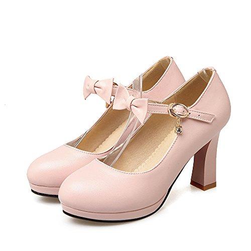 Pink Bows Shoes Straps Shine Dress Pumps Women's Ankle Show Platform gOF1qx