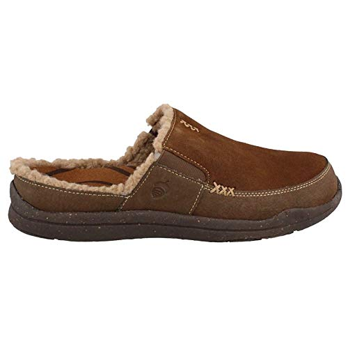 Acorn Men's Wearabout Slide W/Firmcore, Chocolate Suede, 9 M US