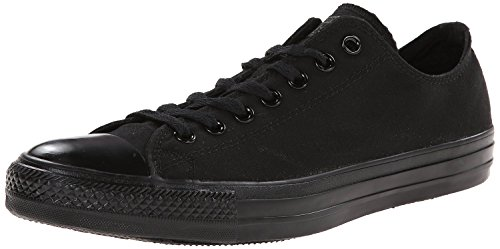 Converse Men's All Star Chuck Taylor Lo Top Sneaker Black Monochrome 8.5 D(M) US
