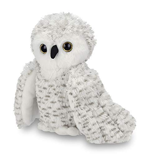 Bearington Owlfred Plush Stuffed Animal White Snowy Owl, 11 inches