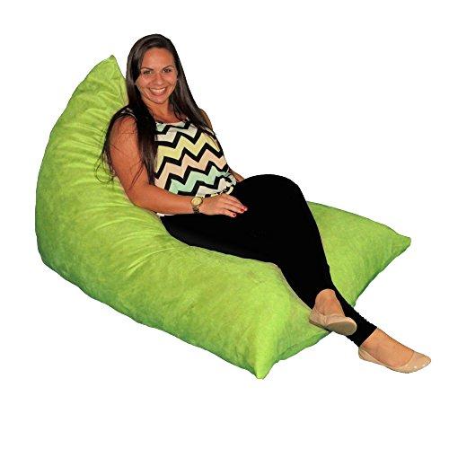 Bean Bag Chair Premium Cozy Foam Filled Cozy Lounger medium Lime ()