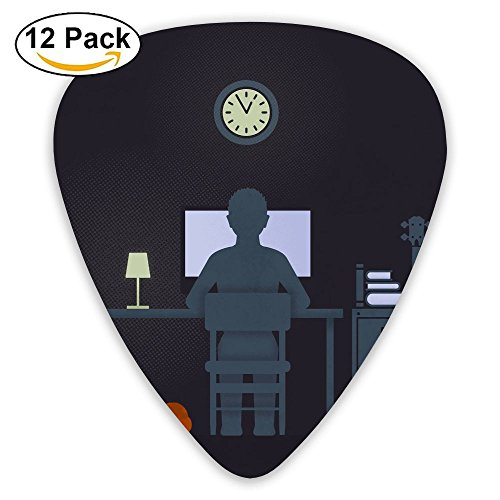 12-pack Fashion Classic Electric Guitar Picks Plectrums Student Life Instrument Standard Bass Guitarist