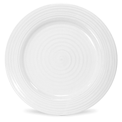 (Portmeirion Sophie Conran White Luncheon Plate, Set of 4 )