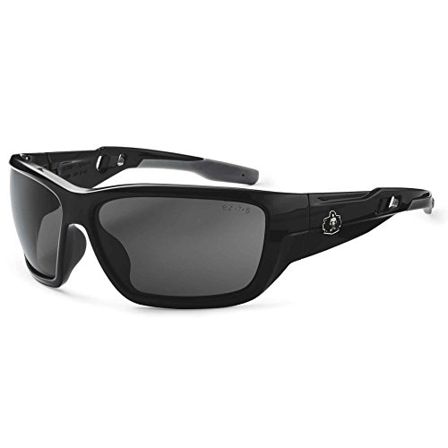 Skullerz Baldr Polarized Safety Sunglasses-Black Frame, Smoke - Sunglasses Nemesis Polarized