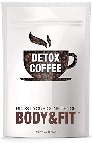 Detox Coffee with 100% Arabica coffee – All Natural Ingredients, Cleanse and Detox Body, Supports Weight Loss, Fast Results, Great Taste –FDA certified and Organic (30 servings)