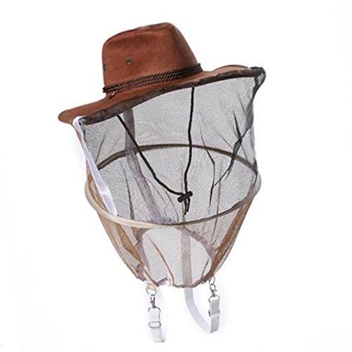 Symboat Apicultor Apicultor Sombrero de Vaquero Mosquito Abeja Insectos Net Visage Cabeza Protector Sombreros