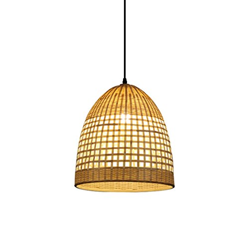 CSQ Bamboo Lampshade Chandelier, Zen Lamps Restaurant Lights Antique Manual Bamboo Lighting Table Chandeliers E27 Shop Decoration Engineering Lamp 3440CM Adjustable Hanging Wire 150cm - Antique Bamboo Table