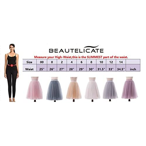 06989ae55b new BEAUTELICATE Women's A Line Princess Tutu Tulle Skirt Prom Party Knee  Length30