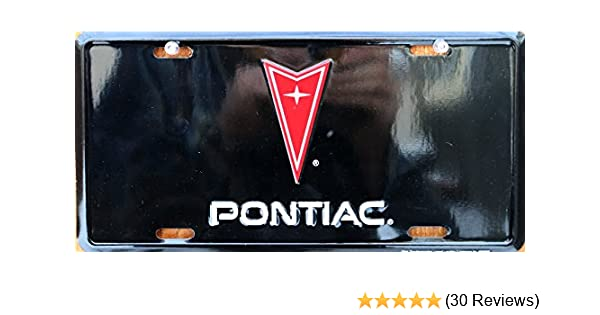 HangTime Pontiac embossed metal auto tag 6 x 12 Tag City