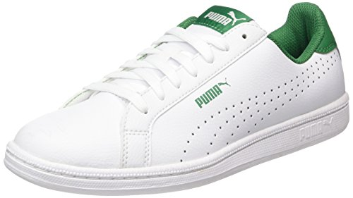 Puma Smash Perf, Scarpe da Ginnastica Basse Unisex-Adulto Bianco (White-verdant Green)