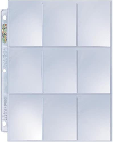 Ultra Pro Platinum Series 9-Pocket Pages for Trading Cards 50 ct.