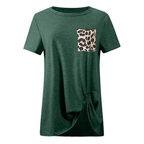 A Per Donna T shirt Toamen E Corte Con Maniche Girocollo Verde xq0gxnz87f