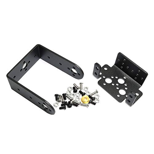 - Maxmoral 1 Set 2 DOF Short Pan and Tilt Servo Bracket Mount Kit for MG995 MG996R Robot Mechanical Accessories