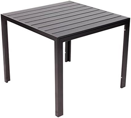Vanage Helsinki mesa de aluminio con acabado de madera mesa de ...