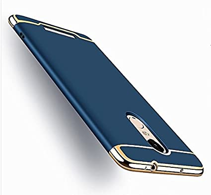 the best attitude 2ab72 27a56 AEETZ Ultra-thin 3in1 Electroplate Metal Texture Hard Plastic Back Cover  for Xiaomi Redmi Note 3 (Navy Blue)