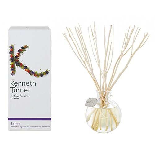 Kenneth Turner Soiree Scented reed diffuser in bud vase with natural rattan reeds by Kenneth Turner