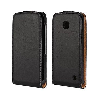 Open Up and Down PU Leather Full Body Case for Nokia Lumia 630 ( Compatible Models : Lumia 610 ) (610 Nokia Cover)