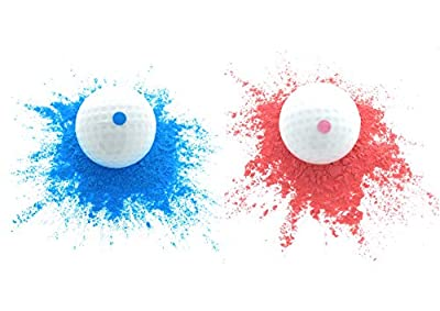 Gender Reveal Exploding Golf Balls (2 Balls) – Includes A Blue & Pink Colored Ball, Perfect For A Baby Reveal/Sex Reveal Party, Safe & Fun For The Entire Family By Essential Values