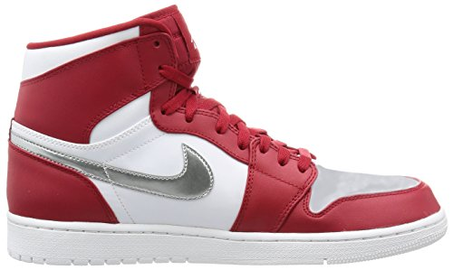 Jordan Nike Mens Air 1 Retro High Basketball Rosso