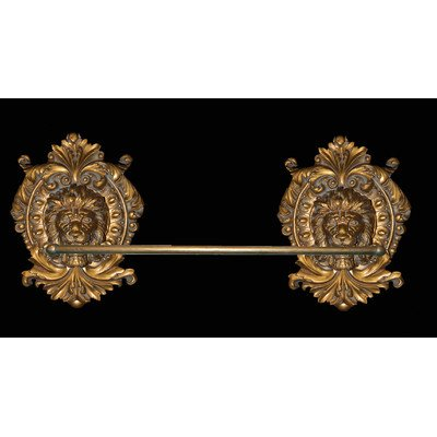 Hickory Manor House Lion Medallion Towel Bar, Antique Gold