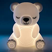 Lil Dreamers Bear Soft Touch LED Night Light, Home Children's Decorative Bedroom Bedside Table Lamp, Adjustable 6 Levels…