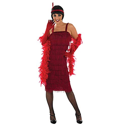 fun shack 20s, Womens Sample Red Flapper Dress, X-Large -