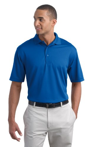 - Port Authority Men's Poly Bamboo Charcoal Blend Pique Polo XL Royal