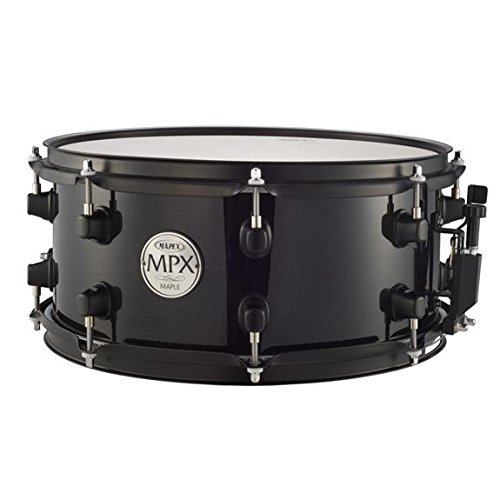 Drum Black Lacquer (Mapex MPX 13 inch x 06 inch all maple snare drum in Transparent Black lacquer finish with balck hardware)