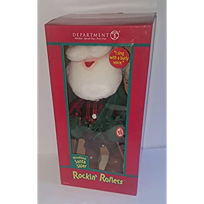 Department 56 Santa Skier Rockin' Rollers: Home & Kitchen