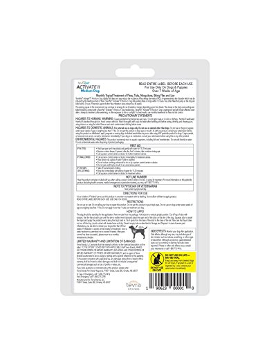 TevraPet Activate II Flea & Tick Prevention for Dogs – Topical, 11-20 lbs by TevraPet (Image #2)