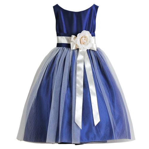 Sweet Kids Royal Blue Tulle Special Occasion Dress Toddler Girl 3T