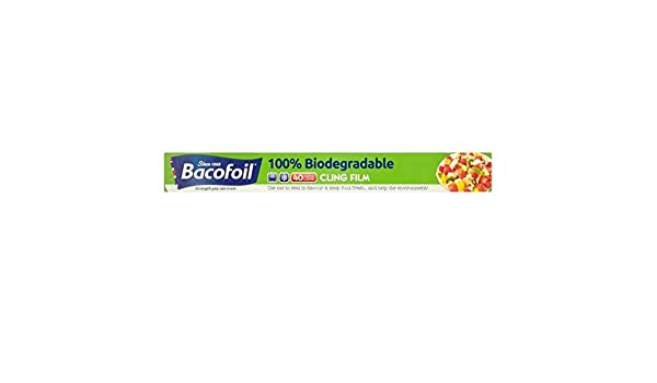 Bacofoil 100% biodegradable Cling Film 40m: Amazon.es ...