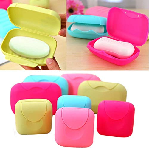 Travel Soap Case Box, Holder with Strong Sealing, Bathroom Dish Plate Case- Home Outdoor Hiking Camping Travel (As Show, S)