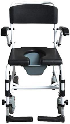 トイレ椅子 ポータブルトイレ 高齢者 障害者の患者多機能4位の高さ調節可能な負荷容量396lbsバスチェアホームベッドサイド便器椅子