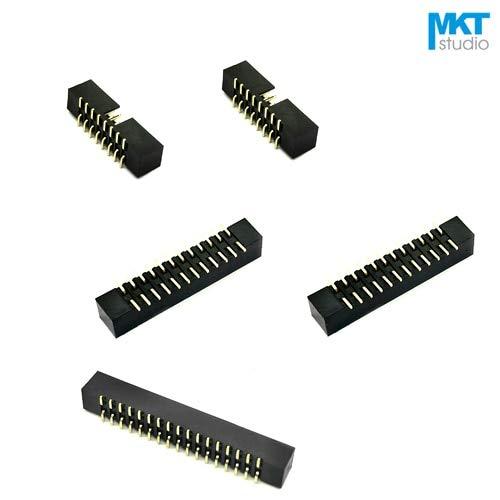 Davitu 10Pcs SMD SMT 2.0mm Pitch DC3 Male IDC Connector Socket ISP JTAG Header Sample 10P 12P 14P 16P 20P 24P 26P 30P 34P 40P - (Pins: - 12p Sockets
