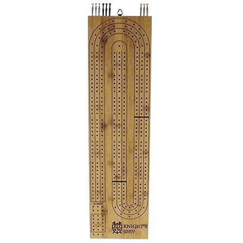 Giant Cribbage Board - Big 3 Track Wood with Large Metal Pegs (29