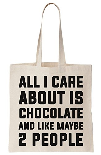 I And Maybe 2 Chocolate Canvas About Tote People Care Like All Is Bag O0fXdFOq
