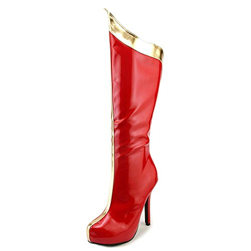 Sexy Red and Gold Superhero Boots Size 6 - Sexy Superhero Boot