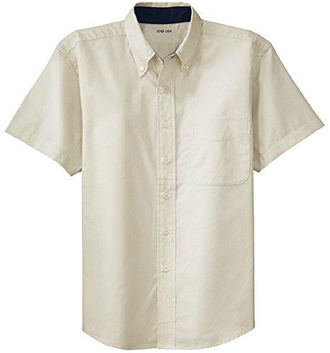 Joe's USA(tm - Men's Short Sleeve Wrinkle Resistant Easy Care Shirts-2XL
