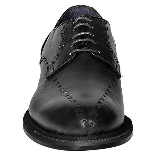 La mejor venta para la venta Precio bajo del paquete de cuenta atrás Leonardo Zapatos De Los Hombres 851gopevitellonero Zapatos De Cordones De Cuero Negro ig40yY6