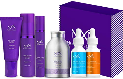 NxN Skin Care System, Complete Anti Aging Kit, Daily Moisturizer With Vitamin C & Hyaluronic Acid Serums, Face…