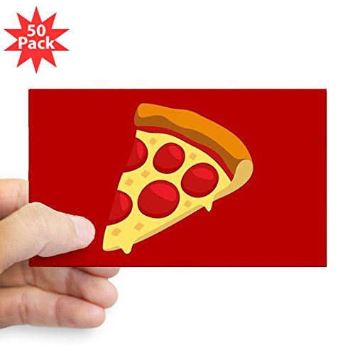 CafePress - Pizza Emoji - Sticker (Rectangle 50 pk) by CafePress